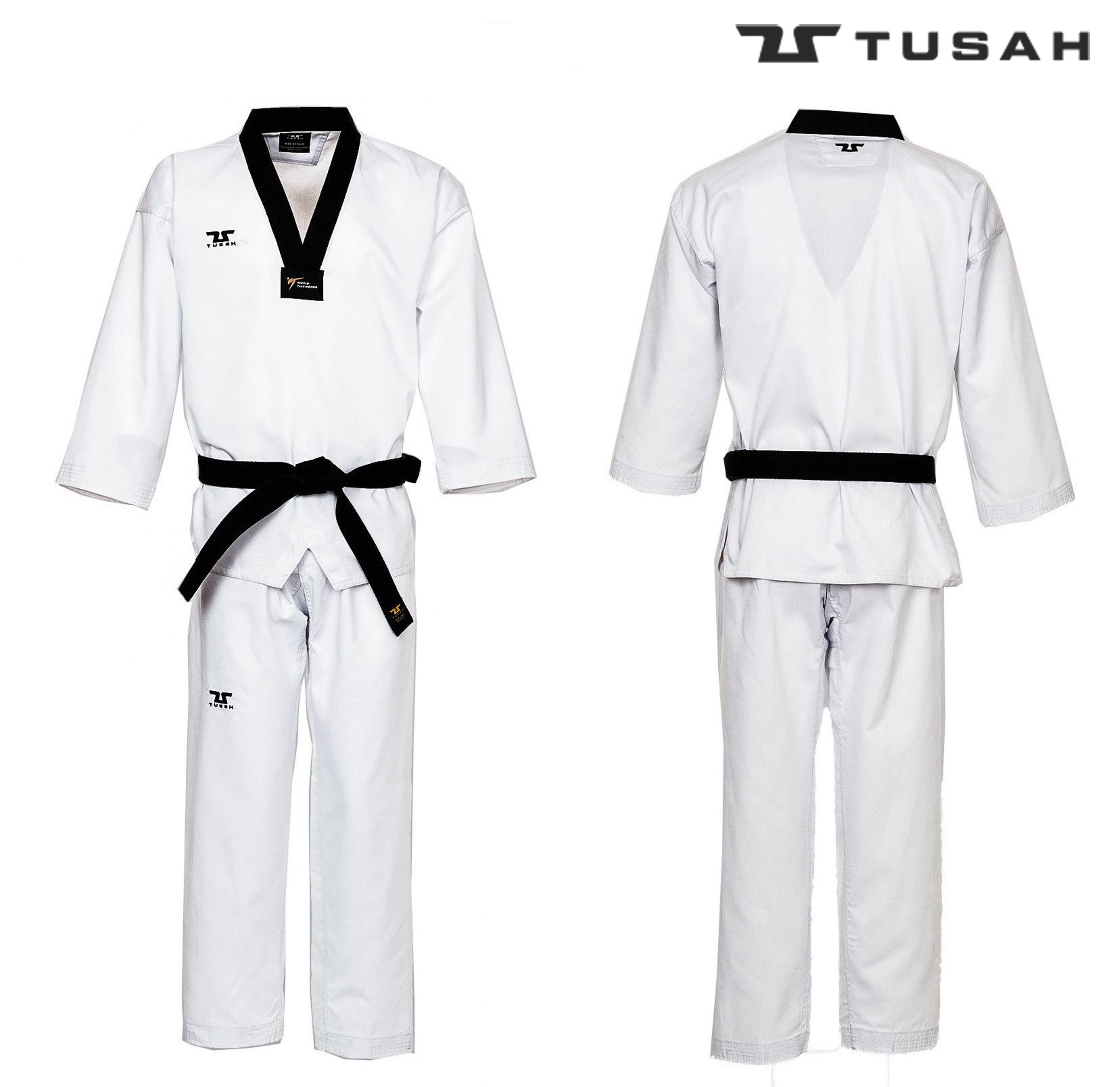 World Taekwondo Black Collar Uniform