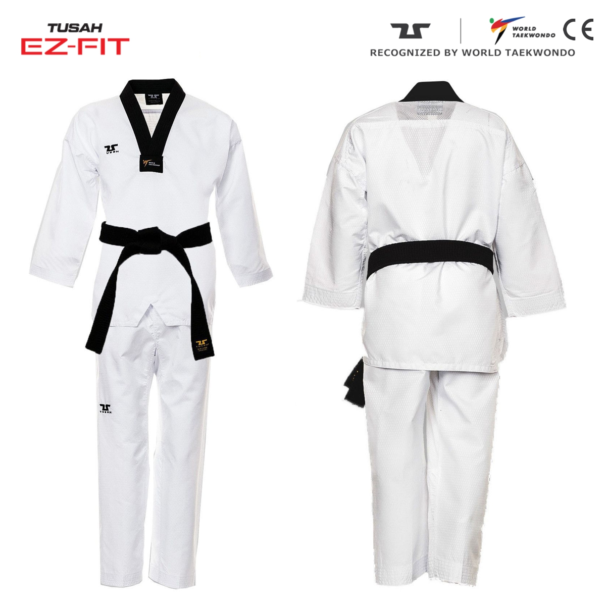 World Taekwondo Black Collar Fighter Uniform