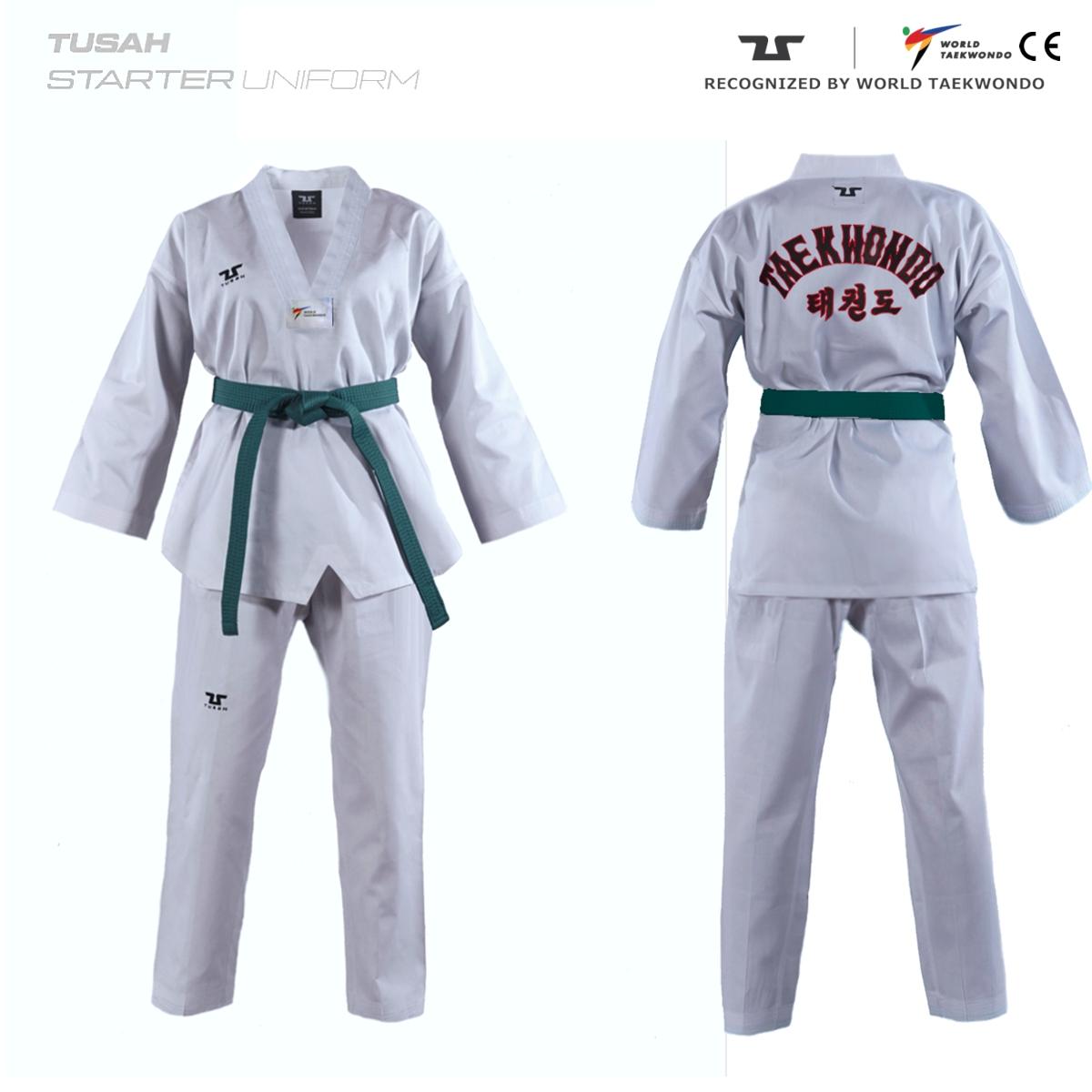 Adults World Taekwondo Embroidered Back Tusah Taekwondo Range Uniform