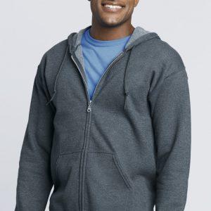 Unisex Adults Zipped Hoodie