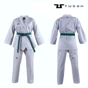 Adults World Taekwondo White Collar Uniform