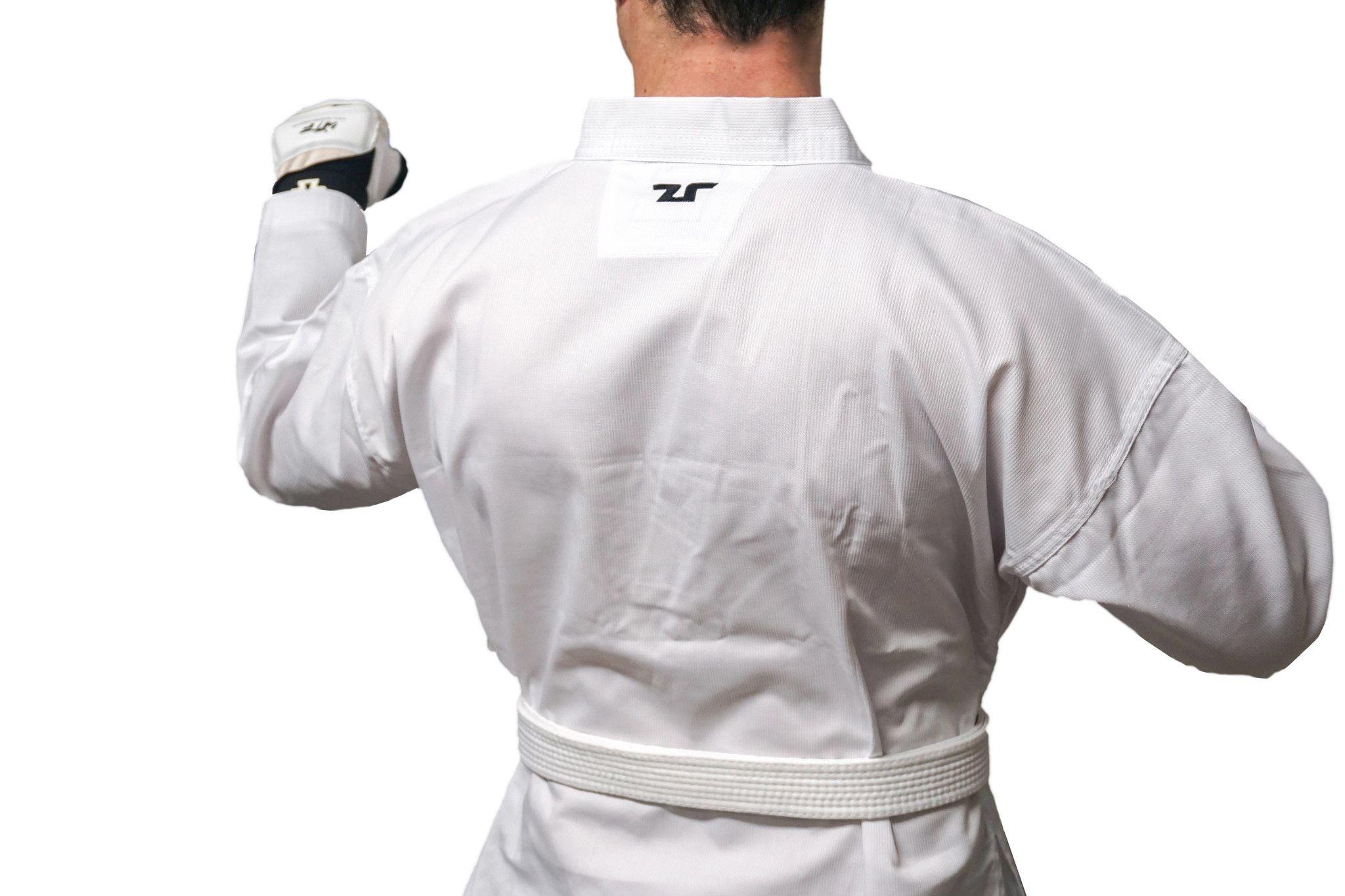 Adults World Taekwondo White Collar Uniform