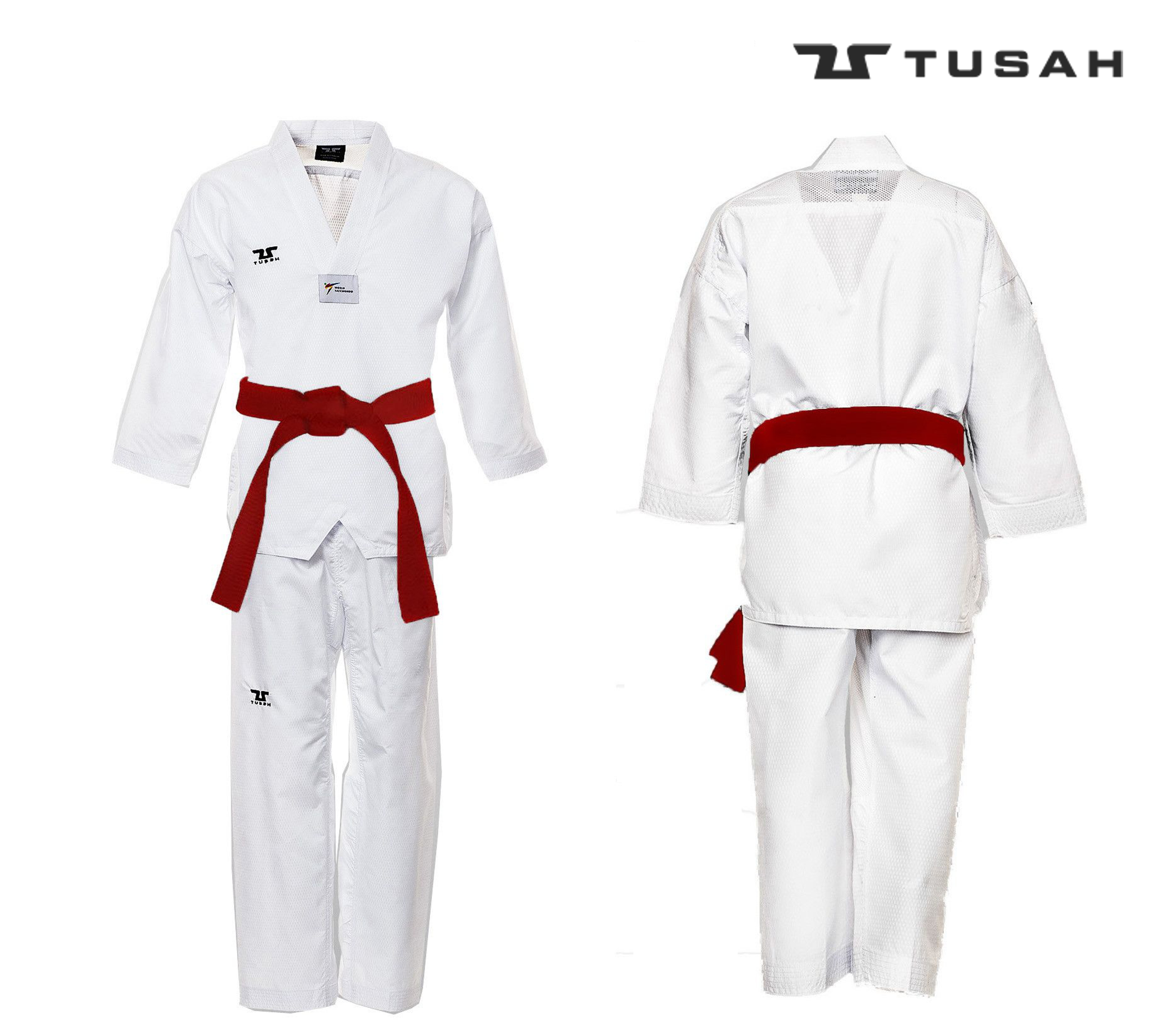 Childrens World Taekwondo White Collar Fighter UniformChildrens World Taekwondo White Collar Fighter Uniform