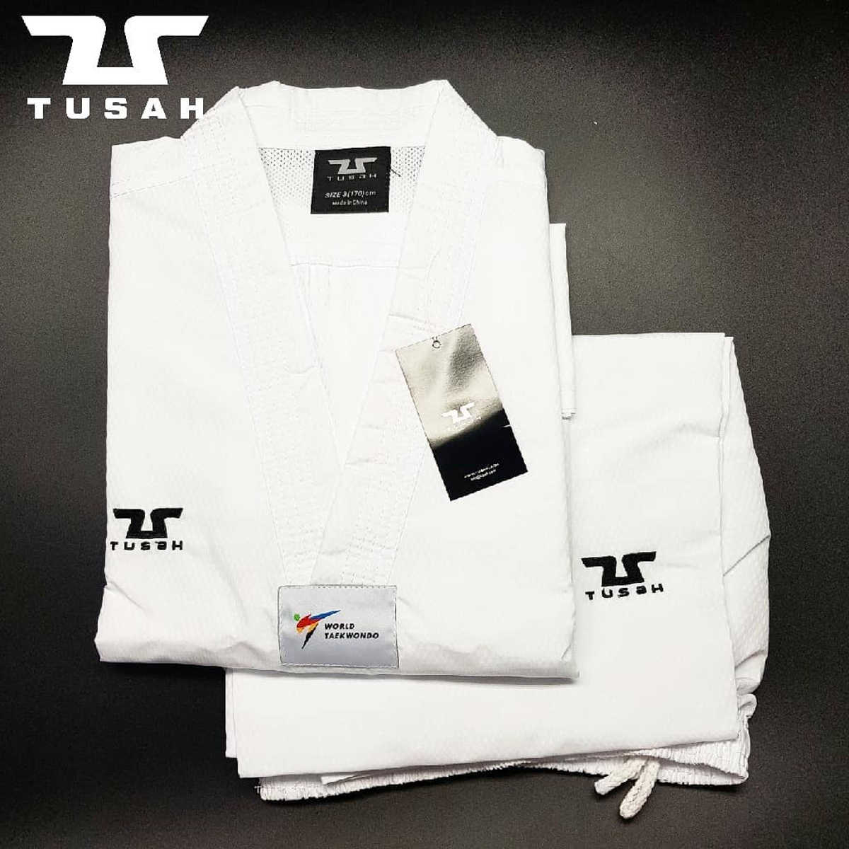 World Taekwondo White Collar Fighter Uniform