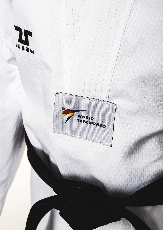 Adults World Taekwondo White Collar Fighter Uniform