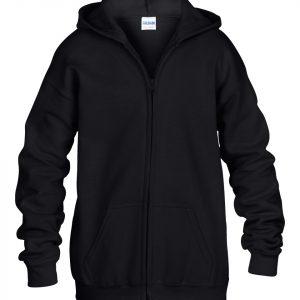 black zipped