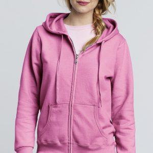 Female Adults Zipped Hoodie