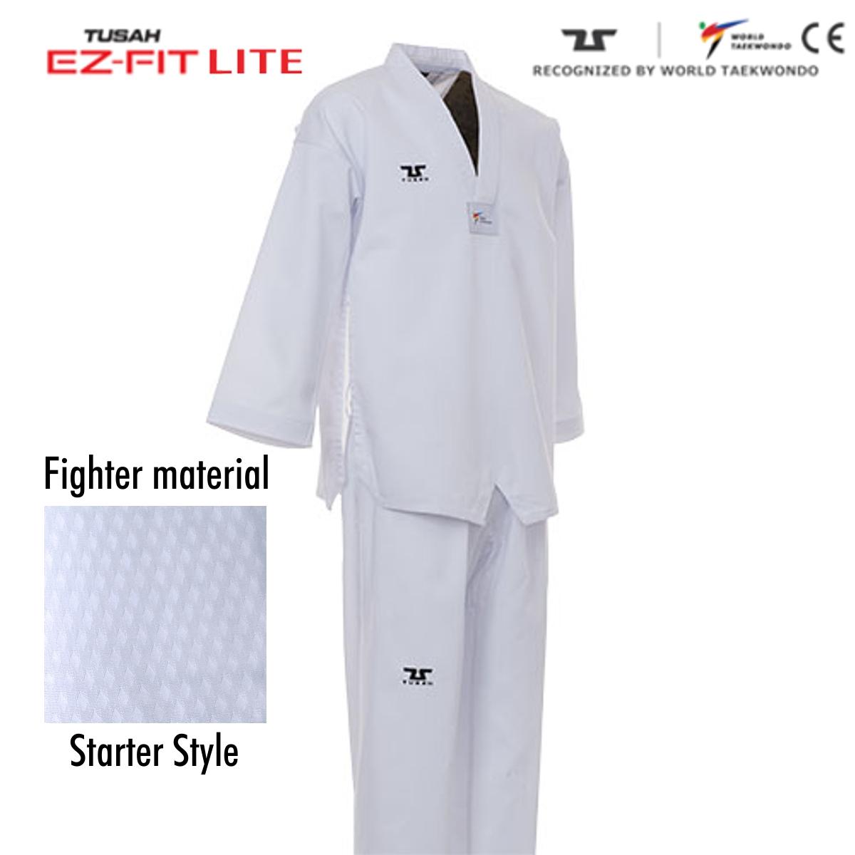 Ez-Fit Lite Fighter Uniform White Collar