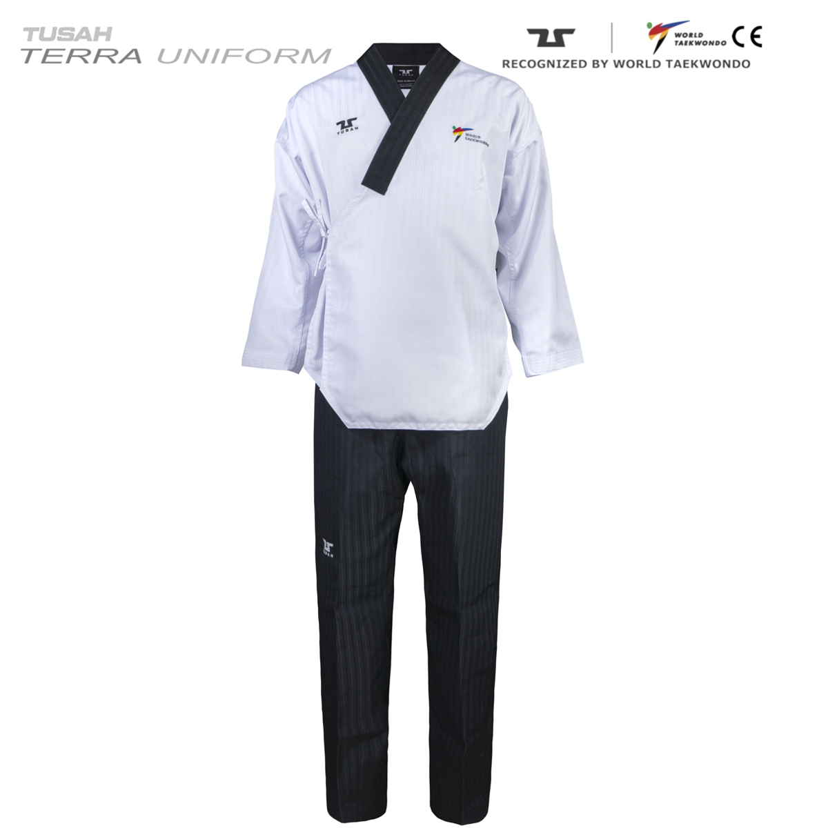Adults Terra Male Dan Uniform Tuash Taekwondo Poomsae Range